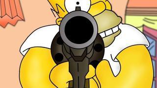 homer simpson gun