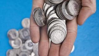 open hand, hand münzen