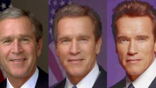 triple Bush Arnie morph