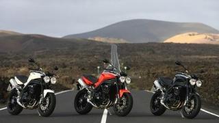 triple triumph motorbike