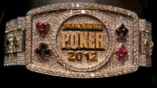 wsop Main Event Bracelet 2012