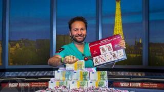 WSOP Bracelet Winner Daniel Negreanu 2013 WSOP EuropeEV0725K NLH High RollerFinal TableGiron8JG3482