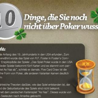 10 Dinge, die Sie noch nicht über Poker wussten