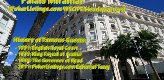 WSOPE - Das PokerZeit-Hauptquartier in Cannes
