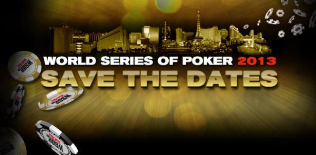 WSOP 2013 - der Zeitplan